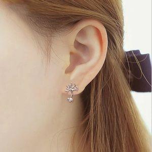 🎉 New Neuron Tree Silver Plated Stud Earrings
